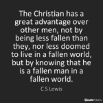 Fallen World Quote CS Lewis